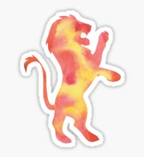 House Lion Watercolor Sticker