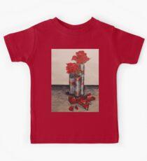 Red Rose Petals Kids Tee