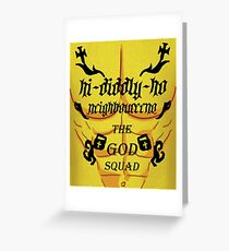 Gangland Flanders Greeting Card