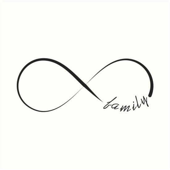 Forever Family Infinity Symbol Art Prints By Pixxart Redbubble