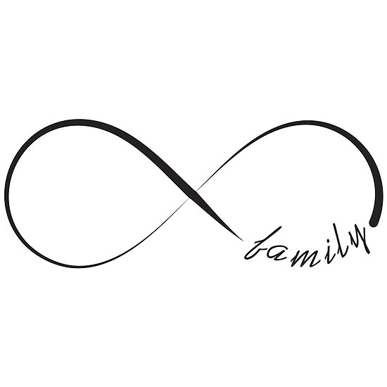 Forever Family Infinity Symbol Posters By Pixxart Redbubble