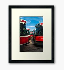 Bumper To Bumper Traffic Framed Print