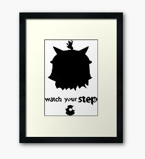 Teemo Watch Your Step  Framed Print