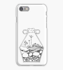 Geometric Terrarium (black) iPhone Case/Skin