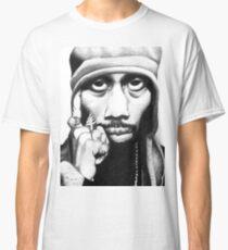 Wu Tang Clan RZA Portrait Charcoal Pencil Classic T-Shirt
