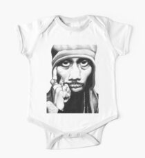 Wu Tang Clan RZA Portrait Charcoal Pencil One Piece - Short Sleeve