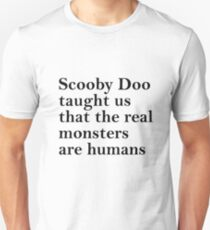 Lessons from Scooby Doo (Black) Unisex T-Shirt