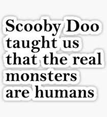 Lessons from Scooby Doo (Black) Sticker