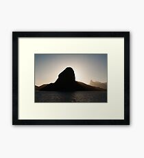Sugar loaf mountain and Corcovado Framed Print