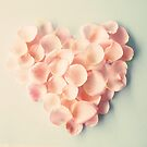 Petal heart over neutral background by Caroline Mint