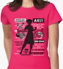 Gintama - Kagura Quotes Women's Fitted T-Shirt