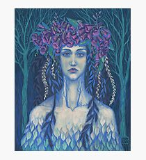 Foxgloves, surreal / fantasy art, dryad, girl in flower crown Photographic Print