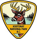 Kootenay National Park BC Canada Vintage Travel Decal by hilda74
