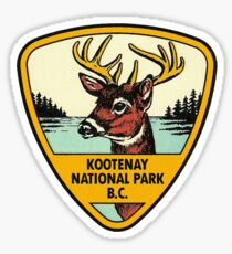 Kootenay National Park BC Canada Vintage Travel Decal Sticker