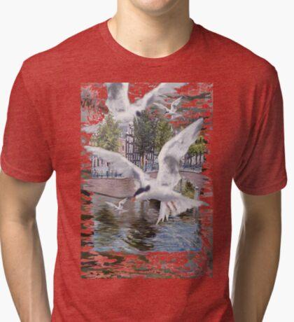 Common tern ~Visdiefje Tri-blend T-Shirt