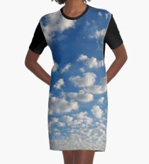 Relax amongst the Clouds Graphic T-Shirt Dress