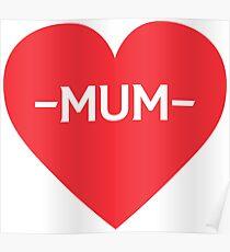 Love Mum Poster