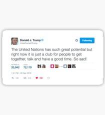 Donald Trump United Nations Tweet Sticker