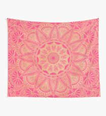 Hot Pink and Gold Tapestry Wall Tapestry