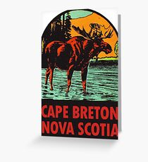 Cape Breton Nova Scotia Canada Vintage Travel Decal Greeting Card