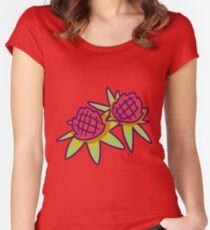 Pineapple Blossoms Women's Fitted Scoop T-Shirt