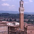 Sienna, Torre del Mangia, Palazzo Pubblico, Italy. by johnrf