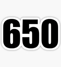 650 area code Sticker
