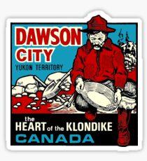 Dawson City Yukon Territory Canada Vintage Travel Decal Sticker
