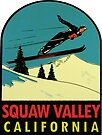 Squaw Valley Skiing California Vintage Travel Decal by hilda74
