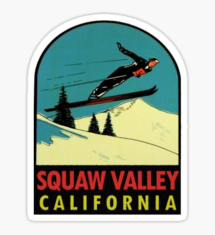 Squaw Valley Skiing California Vintage Travel Decal Sticker