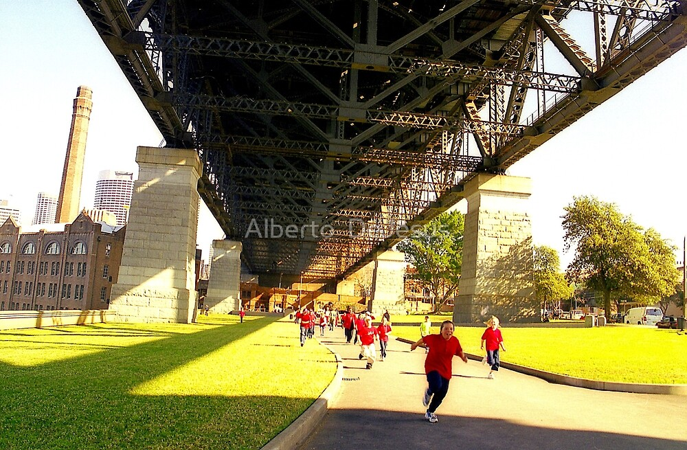 School Children Running, Sydney  by Alberto  DeJesus