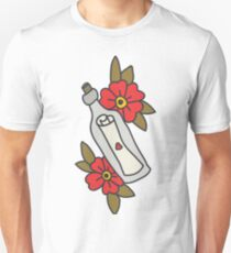 bottle with letter. traditional tattoo flash T-Shirt