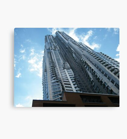 Frank Gehry Apartment Building and Skyscraper, Lower Manhattan, New York City Canvas Print