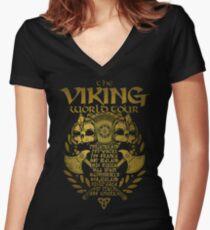 Viking World Tour Women's Fitted V-Neck T-Shirt