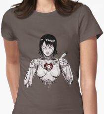 Hagane no Kokoro - A Ghost in The Shell Womens Fitted T-Shirt