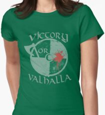 Victory or Valhalla Womens Fitted T-Shirt