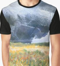 thunderstorm over Montana wheat field Graphic T-Shirt