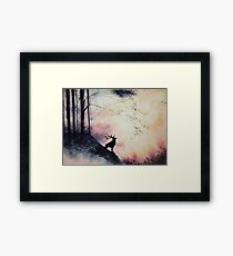 Out of the Forest Watercolor Framed Print