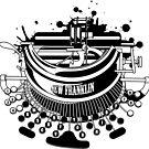 Punk typewriter by Denys Golemenkov