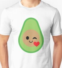 Avocado Emoji Flirt and Blow Kiss T-Shirt