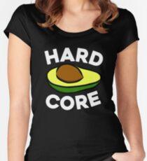 Hardcore Avocado Green Ripe Avocado Guacamole Avocado Toast Hipster Women's Fitted Scoop T-Shirt