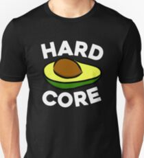 Hardcore Avocado Green Ripe Avocado Guacamole Avocado Toast Hipster T-Shirt