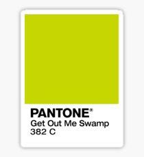 Shrek Pantone Swatch Sticker