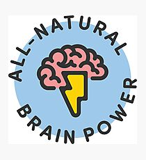 All-Natural Brain Power Photographic Print