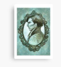 Sherlock cameo Canvas Print
