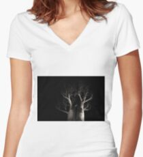 Boab Tree  Women's Fitted V-Neck T-Shirt