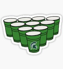 Michigan State Beer Pong Sticker