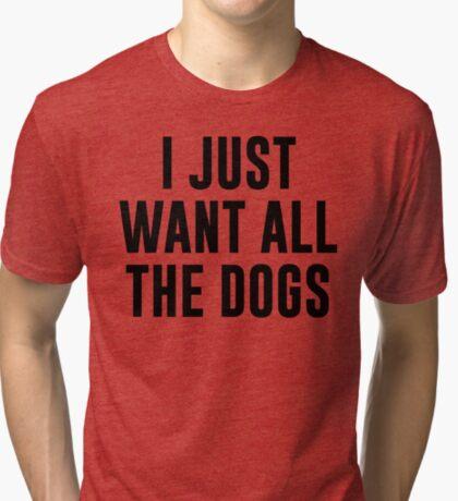 Ich will nur alle Hunde Vintage T-Shirt