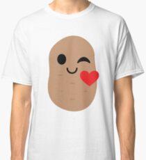 Potato Emoji Flirt and Blow Kiss Classic T-Shirt
