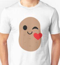 Potato Emoji Flirt and Blow Kiss T-Shirt